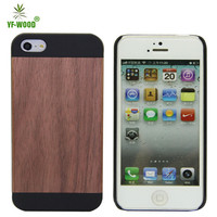 Wood pc case for iphone 5,plain wooden case for Apple iPhone 5S