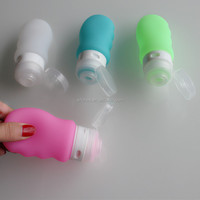 soft silicone squeeze shampoo bottle/tube