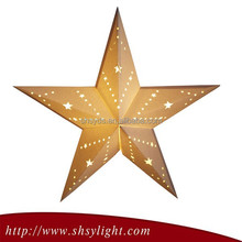 Golden Many Size lucky star paper