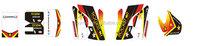 Custom motocross stickers design,stickers motocross bike,dirt bike sticker design for KTM CFR
