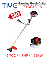 hot selling 2 stroke 1200w portable tools 43cc gas brush cutter / grass trimmer