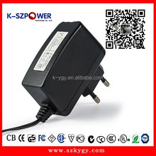 2015 k-35 10w series ygy power AC DC 5.5v 2a power adapter with CE UL KC