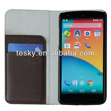 CLASSIC BROWN FOR GOOGLE NEXUS 5 E980 SLIM FLIP CASE,HOT SELLING NOTE STYLE PROTECTIVE COVER