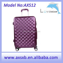 2015 light colorful ABS purple trolley case hard abs trolley case hard shell case