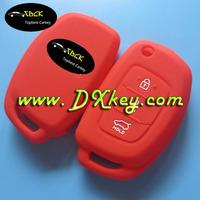 Top quality 3 button silicone rubber car key cover for hyundai ix35 key