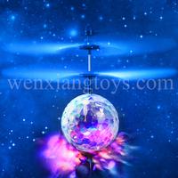 Christmas jingle bells music Rc helicopter hand sansor fly ball
