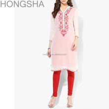 Ladies Kurta Embroidery Designs Pakistani Style Women Long Kurta HSD1354