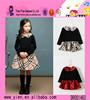 Childrens Boutique Clothes Long Sleeve Grid Girls Frock Dress