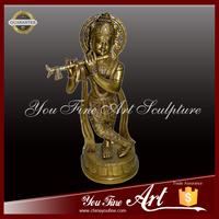Bronze Play music Buddha Statue