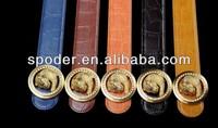 2014wholesale golden Panther buckle Genuine Leather Belts for Men