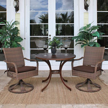 2015 Alum frame rattan coffee table and chair wicker garden furniture