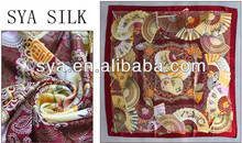 2012 New style wholesale square silk net scarf