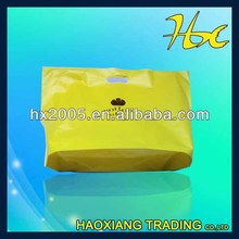 shopping packing bag/yellow shopping bag plastic bag