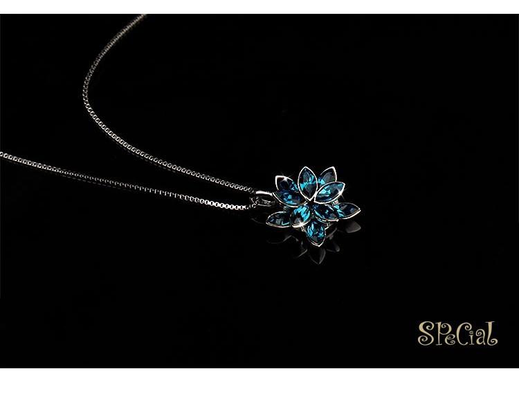 Специальный новинка 925-Sterling-Silver макси ожерелья цветок колье старинные ювелирные изделия подарки для женщин XL141003