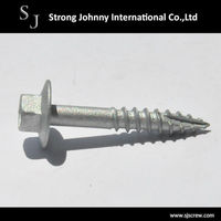 hex flange washer head and Mechanical Galvanizing Screw