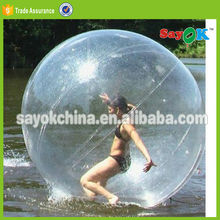bubble running ball walk inflatable water bottle filled lawn roller