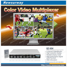 CCTV Video Quad Processor PIP and automatic,four pictures,