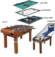 Factory wholesale 4FT MDF 5 in 1 baseketball Soccer table
