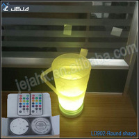 Holiday colored wireless controlled led lighting cup