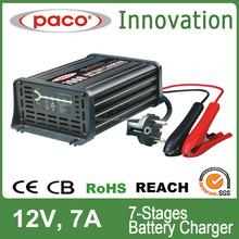 7 stages automatic smart car battery charger 12V 220V 7A with battery repairing function