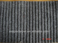 High Quality 100% Polyester needle punched nonwoven rib carpet, tabriz carpet prices