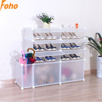DIY interlocking shoe storage organizers each cube can hold boots and shoes(FH-AL01816-8 )