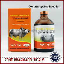 Animal health pharmaceutical tetracycline injection for dairy cattle