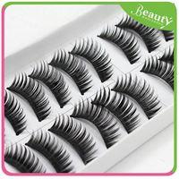 mink strip eyelashes ,H0T038 10 pairs Natural False eyelashes fashion eye lash makeup