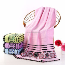 well cotton embroidery high quality towel bath