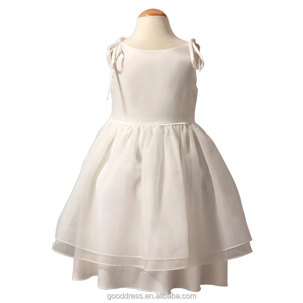 Gorgeous white embroidery dresses baby girls dress