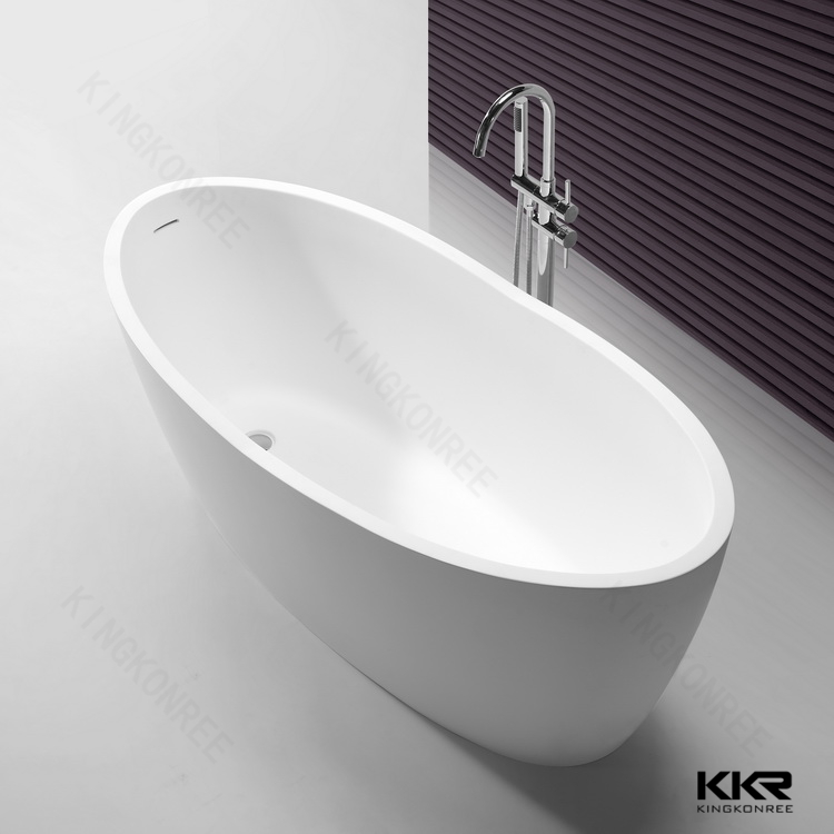 bathroom products floor standing bathtub in ground view