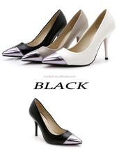 hot sale colors patent leather cheap high heel shoes China factory designer elegant women fashion heels shoes