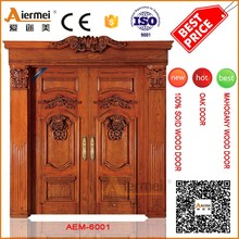 100% real solid wood double main door front house gate designs