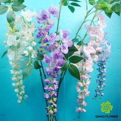 Hot selling natural real touch artificial hanging flowers decoration