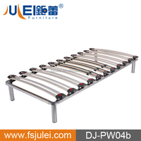 Customized Birch Slats Metal bed Frame Double Slatted Bed Base on Model DJ-PW04a/b