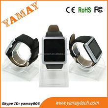 perfect match of smartphone 1.54 inch screen smart watch with leather strap