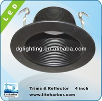 """2014 4"""" Fluorescent Baffle UL Listed Trim for Recessed Downlight"""
