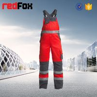 high visibility reflective safety ladies suspender trousers
