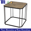 Oak Iron Interdiction Jointing Side Table,Antique Side Table,Light Weathered Finish Side Table