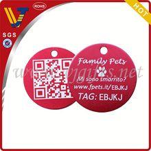 2014 New design zinc alloy pet tag