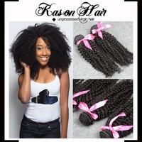 Qingdao Kason Hair Products 2Pcs/lot Virgin Brazilian Kinky Curly Hair Factory Price Wholesale Cheap Brazilian Hair For Sale