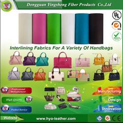 High Performance handbag pet nonwoven fabric for handbag Industry