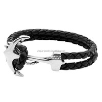 316l stainless steel stingray anchor bracelet, fashion jewelry 2015
