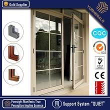 Made in China de poupança de energia Low-e temperado de vidro portas e janelas de alumínio projetos