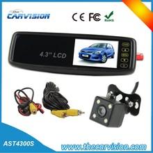 4.3 inch car Mirror monitor backup camera system