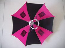 High quality hot-sale red handle and cap family umbrella