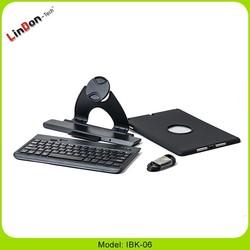China supplier Rotating 360 degree bluetooth keyboard for ipad air IBK-06