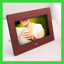 digital photo frame with wooden frame 7inch digital photo frame with muti function