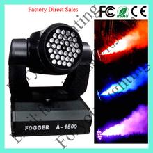 China Sale 36*1W RGB LEDs CO2 Jet Effects 1500W LED Moving Head Light Smoke Machine