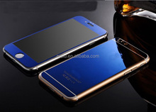 blue color plated for apple iphone 5s screen protector tempered glass 4 0.3mm 9H 2.5D